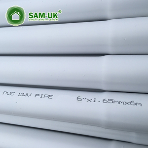 6 Inch UV Resistant Thin Wall PVC Drain Pipe Schedule 40