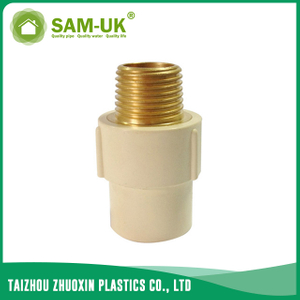 CPVC male brass adapter for water supply Schedule 40 ASTM D2846