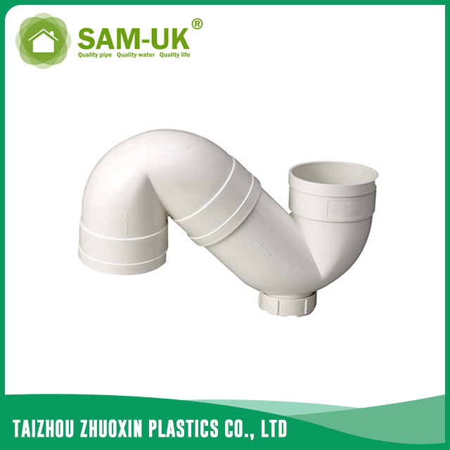 PVC S-trap for drainage water
