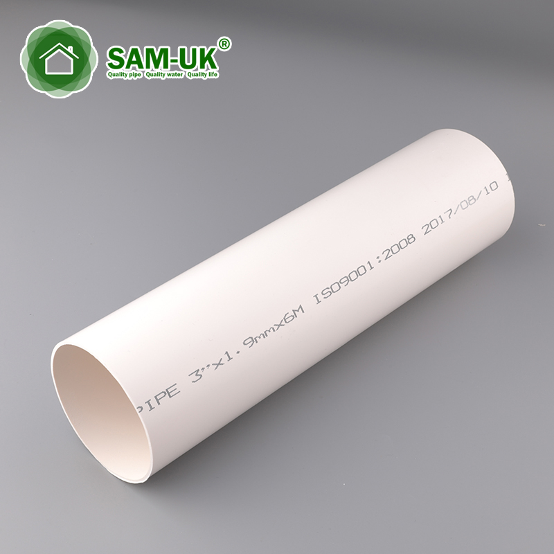 3 in. x 10 ft. agriculture irrigation schedule 40 PVC drain pipe