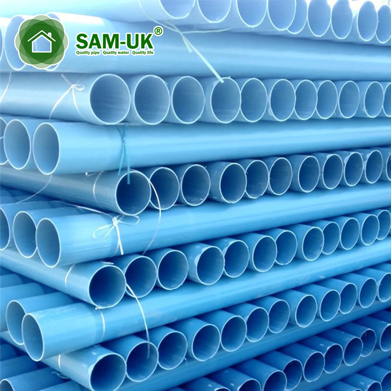 blue 6 in x 10 ft underground schedule 40 pvc thin wall pipe
