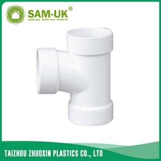 PVC DWV pipe tee for drainage water ASTM D2665